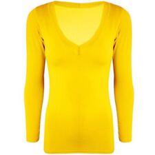 Maglie e camicie da donna a manica lunga taglia S giallo