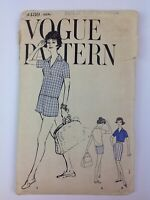 60's Vintage Vogue Pajama Shorts Shirt Sewing Pattern 9480 Size 16