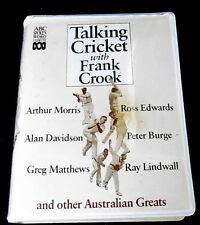 """Talking Cricket With Frank Crook"" - ABC Spoken Word, 2 Cassette In Case"