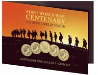 2014-2018  ANZAC Spirit Lives Five Coin Set