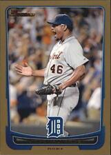2012 Bowman Baseball Gold #50 Jose Valverde Detroit Tigers