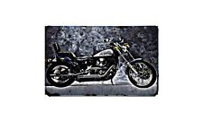 Fxstc 1340 Motorbike Sign Metal Retro Aged Aluminium Bike