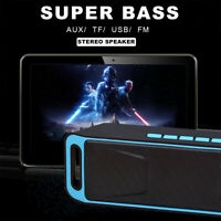 Rechargeable Bluetooth Speaker Wireless Super Bass Mini Speaker Box USB/TF/AUX