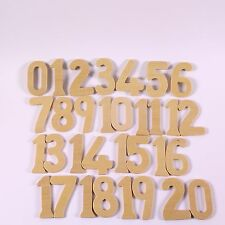 Large Wooden Numbers & Symbols Stencils Kids Art Pack of 42 Drawing Templates