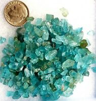 Gemmy 100+carats Lot Natural Neon Blue Green Apatite Rough Crystals Madagascar