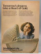 Vintage Magazine Ad Print Design Advertising Southland Life Insurance