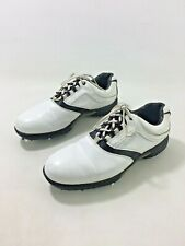 New listing FootJoy Contour Series Mens White Leather Solid Lace Up Golf Shoes US Sz 11.5