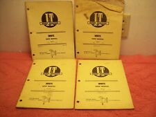 Lot Of 4 Iampt Shop Service Repair Manual White Tractors 2 30 35 45 55 65 135 155