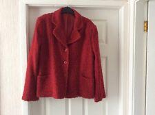 ladies red boucle jacket