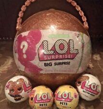 LOL Big Surprise BUNDLE LOT! 1 LOL Big Surprise- 2 LOL Pets-2 LOL Glitter Series