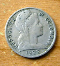 1938 Colombia 5 Centavos Coin