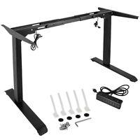 Tresanti Electric Adjustable Height Desk Black Ebay