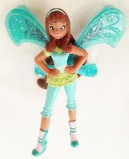 "Teal 3 1/4"" Brunette Fairy Woman Figurine - Use as Cake Decoration"