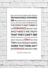 Arctic Monkeys - A Certain Romance - Song Lyric Art Poster - A4 Size