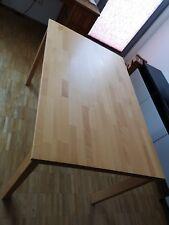 Esstisch Massivholz Buche, Lackiert 125 cm x 81,5 cm