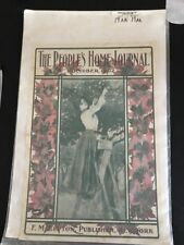 The Peoples Home Journal October 1902 Art Cover F. M. Lupton Publisher New York