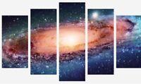 GALAXY SPACE STARS UNIVERSE SPLIT PANEL WALL ART CANVAS PICTURE PRINTS