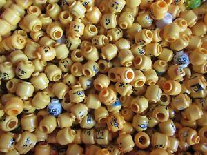 Lego Heads 10 For Minifigures Lego Men Male Female Beard Glasses Parts Mixed