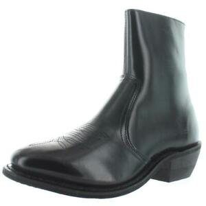 Leather Classics Mens Black Dress Boots Shoes 9.5 Extra Wide (EE) BHFO 6649