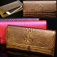 New Crocodile Pattern Genuine Leather Women Clutch Wallet Handbags Ladies Purse