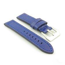 DASSARI Baron Blue Textured Grain Italian Leather Watch Strap Band