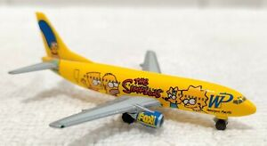 The SIMPSONS Herpa 1:500 Western Pacific Airlines Die Cast 737-300 Plane MINTY!!