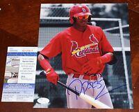 DELVIN PEREZ Signed ST LOUIS CARDINALS 8x10 photo + JSA Sig Debut COA SD25401