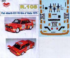 decal 1/43 FIAT ABARTH 031 V6 GIRO D'ITALIA 1975 TRON DER108