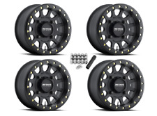 "Method 401 Beadlock ATV 14"" Wheels Rims Black 14x7 5+2 King Quad 700 750 500"
