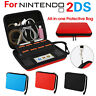 2 In1 Hard EVA Storage Zip Case Protective Shell + Carry Handle For Nintendo 2DS