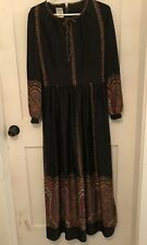 46dc2df6057 Vintage 1970 s Sears Fashions Maxi Dress Vtg Size 16 Made in Hong Kong