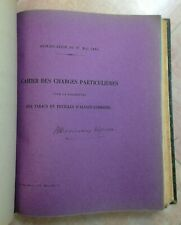 FOURNITURE DES TABACS 1886-1893 CAHIER DES CHARGES DIFFERENTS PAYS VERS FRANCE