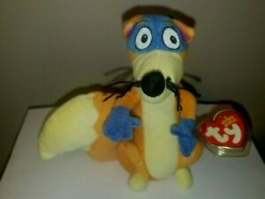 """Ty Beanie Baby - SWIPER the Fox (Dora the Explorer) 7"""" NEW - MINT with MINT TAGS"""