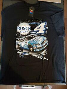 Kevin Harvick 2021 Checkered Flag Sports #4 Busch Light Slingshot Tee FREE SHIP