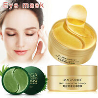 60Pcs Collagen Crystal Eye Mask Gel Eye Patches Anti Wrinkle Dark Circles Remove