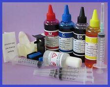 400 ml kit inchiostro compatibile per ricarica cartucce hp 62 nere e 62 colore