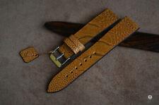 20 mm Cinturino zampa struzzo Vintage Ostrich Leg Watch Strap Handmade bracelet