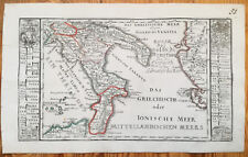 Bodenehr: Original Engraved Map Italy Southern Part - 1720