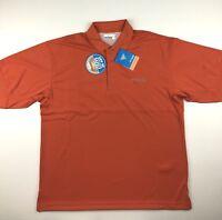 Columbia PFG Mens XL Perfect Cast Orange Omni Shade Fishing Polo Shirt NWT