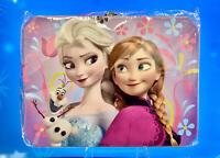 "Disney Frozen Tin Lunchbox- Ana & Elsa 3-D Embossed 8"" x 6""x 3""~Storage Box+"