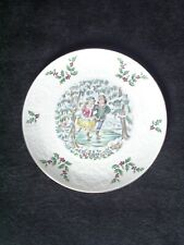 """Royal Doulton 1977 """"Merry Christmas"""" (New) Ice Skaters Plate - Mint Condition"""