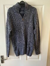 Superdry men's knitted jumper half zip size XL