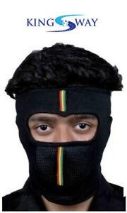 Balaclava/Full Face Mask for Men (Size : L, Color : Black, Cotton Fabric)