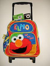 Sesame Street Elmo School Roller Backpack 16' Rolling Bag -Ha Ha