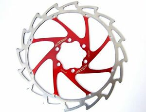 Alligator Windcutter Red Mountain & E Bike Disc Brake Rotor 203mm, 203 mm +bolts