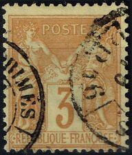 FRANCE SAGE N° 86 OBLITERATION CACHET NOIR DES IMPRIMES PP16
