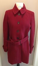 JCREW DOUBLE-CLOTH SLIM TRENCH - SIZE 10 - Vintage Burgundy!!