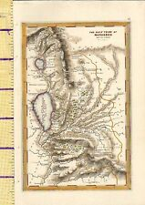 C1832 mano color MAP ~ la mezza tribù di MANASSE ~ oltre Jordan