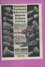 SÄCKINGEN, Werbung 1936, Otto Suhner GmbH Scheifen Feilen Fräsen