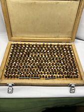 Vintage Machinist Gages 251 500 Complete Set Machinist Tools Usa Wood Box